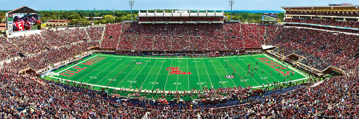 University of Mississippi Sports Jigsaw Puzzle