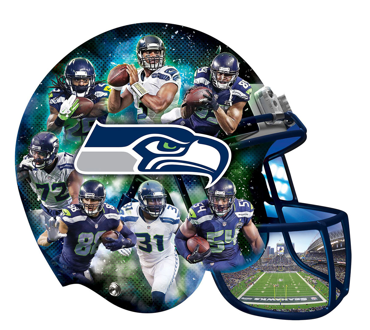 Seattle Seahawks Sports Shaped Puzzle