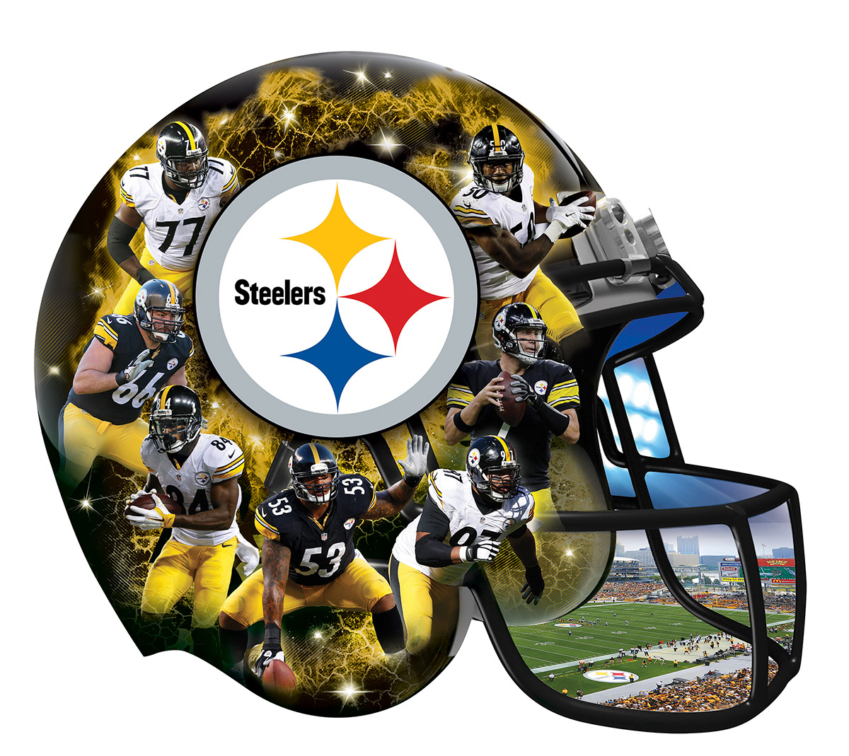 Pittsburgh Steelers Sports Shaped Puzzle