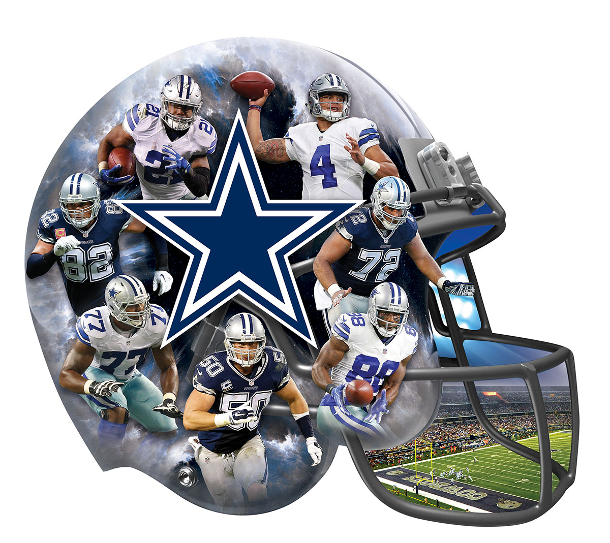 Dallas Cowboys Football Shaped Puzzle