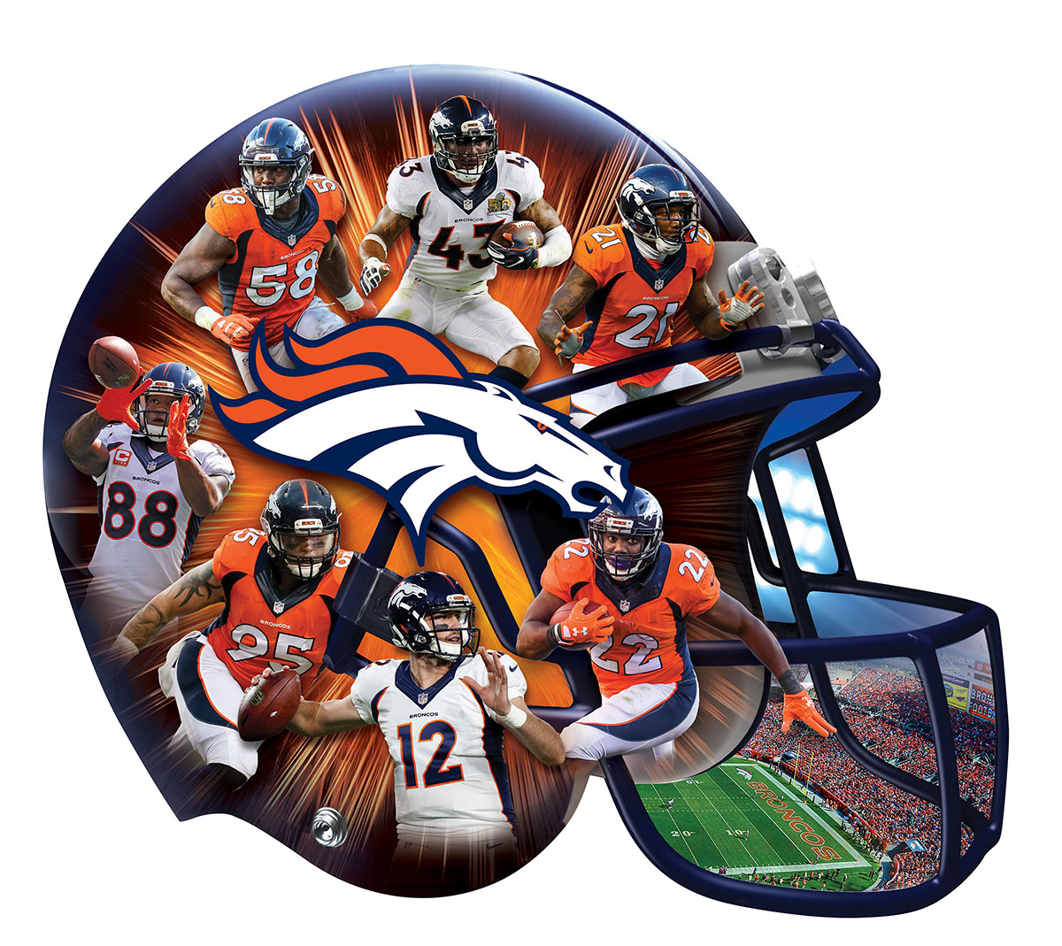 Denver Broncos Father's Day Shaped Puzzle