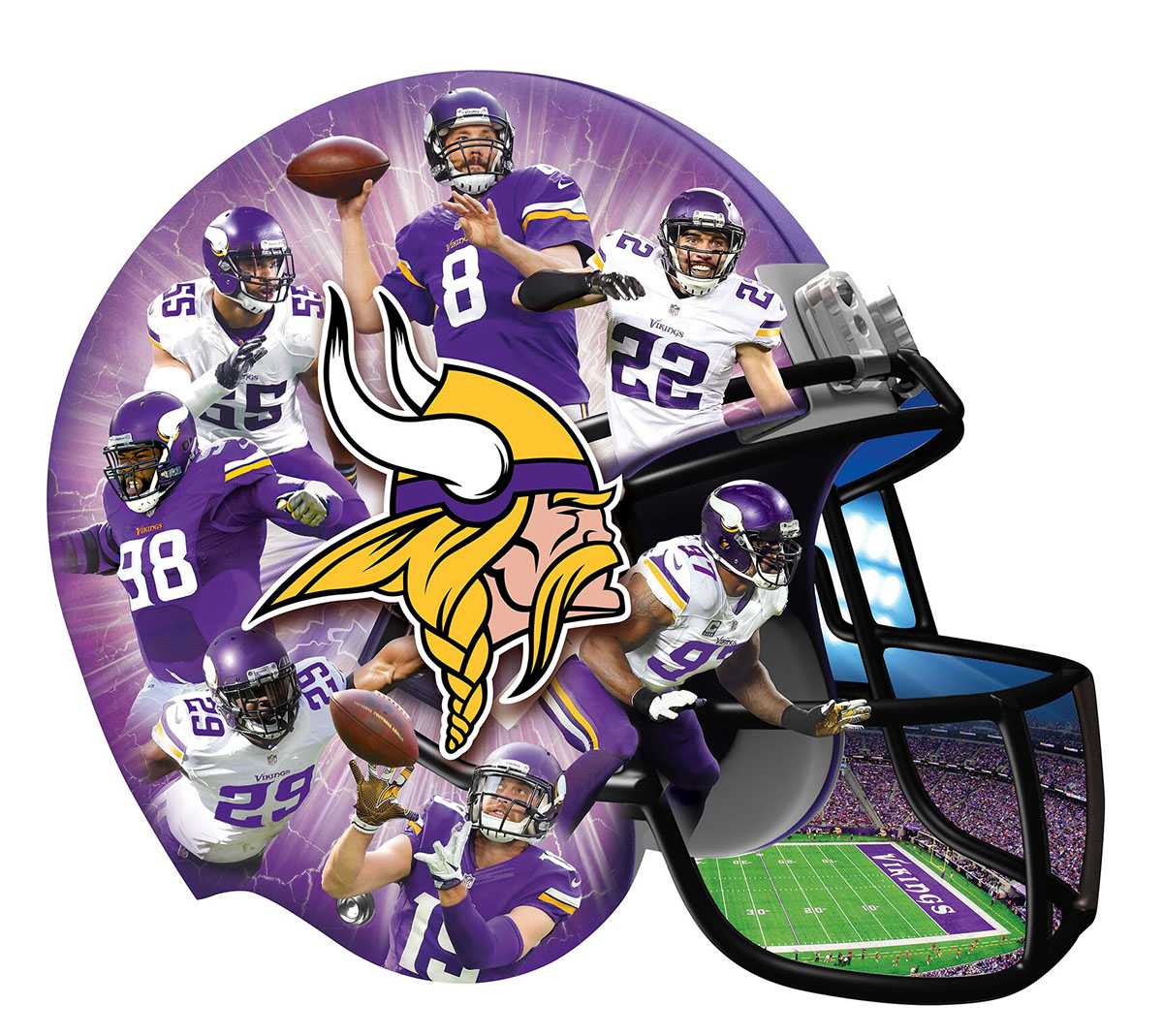 Minnesota Vikings - Scratch and Dent Sports Shaped Puzzle