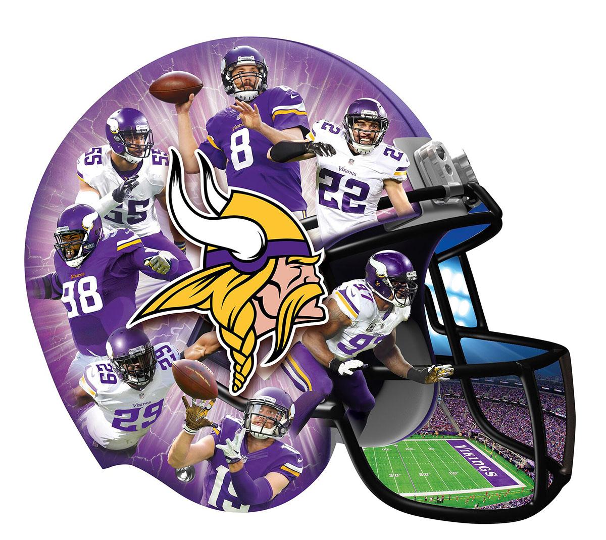 Minnesota Vikings Sports Shaped Puzzle