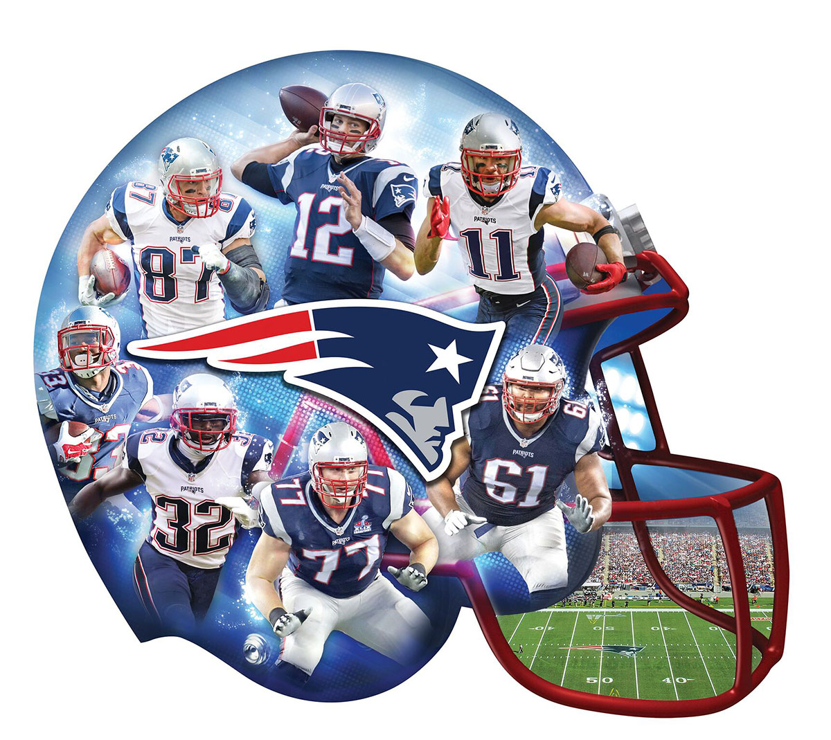 New England Patriots Sports Shaped Puzzle