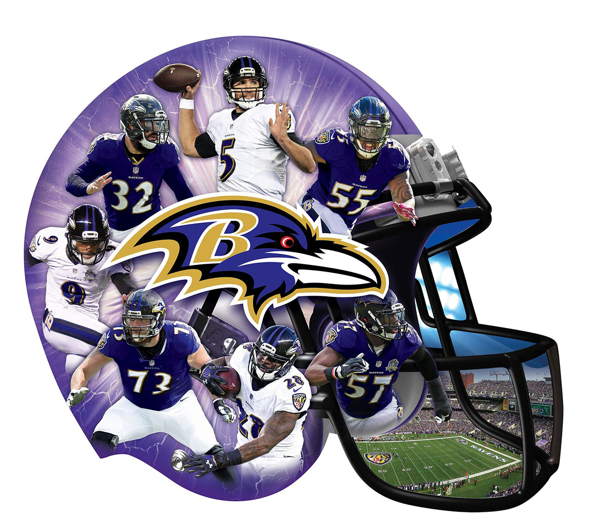 Baltimore Ravens Sports Shaped Puzzle