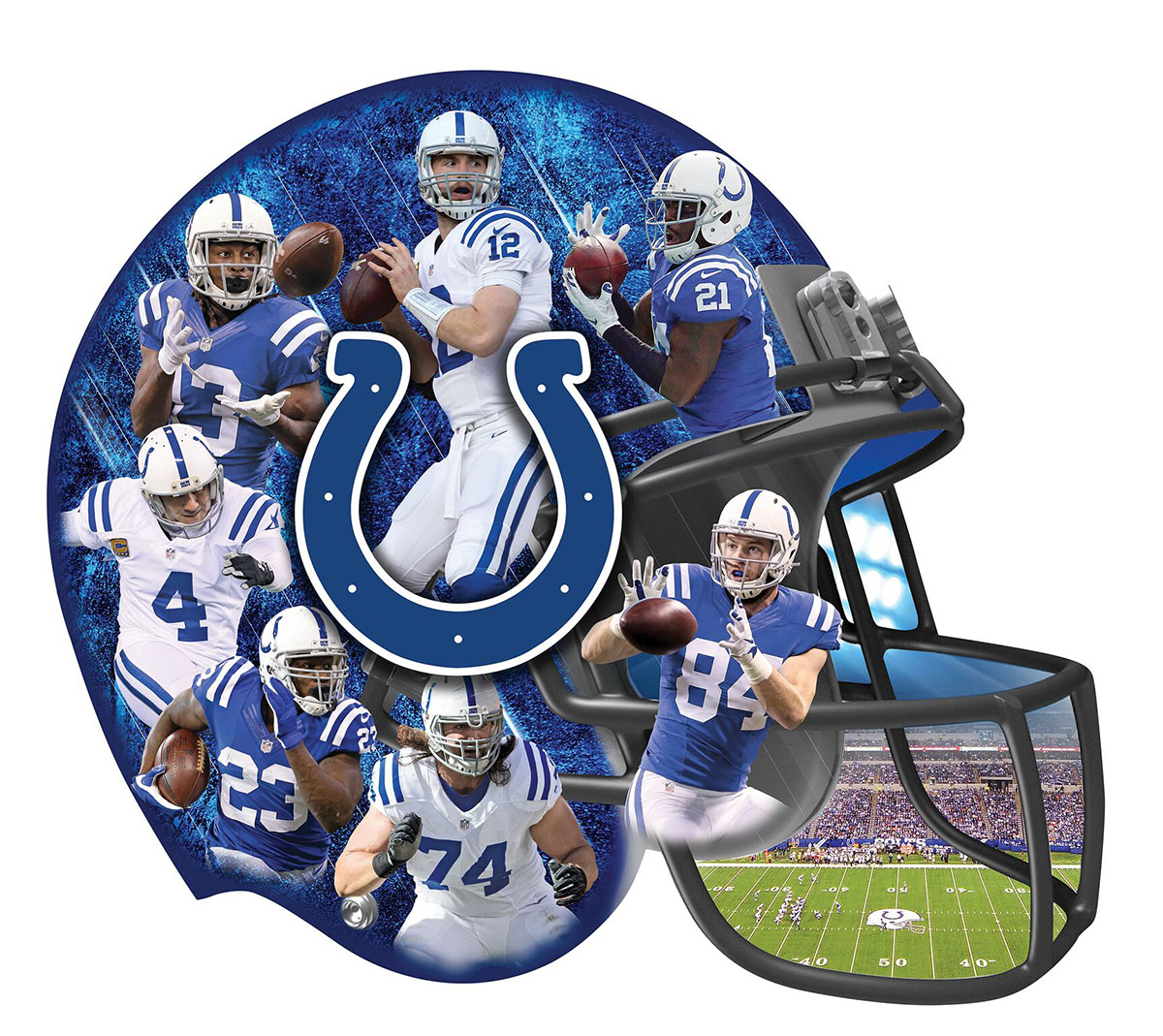 Indianapolis Colts Sports Shaped Puzzle