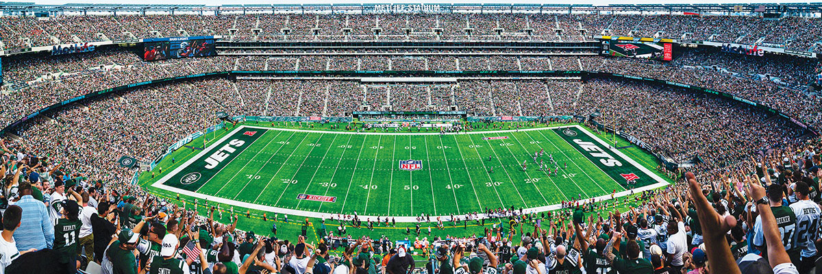 New York Jets Panoramic Puzzle Sports Jigsaw Puzzle
