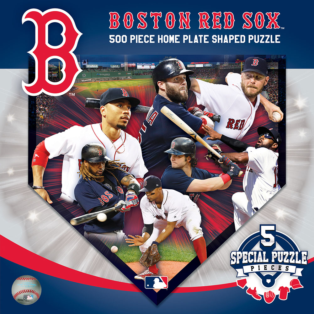 Boston Red Sox  Homeplate Shaped Puzzle Sports Shaped Puzzle