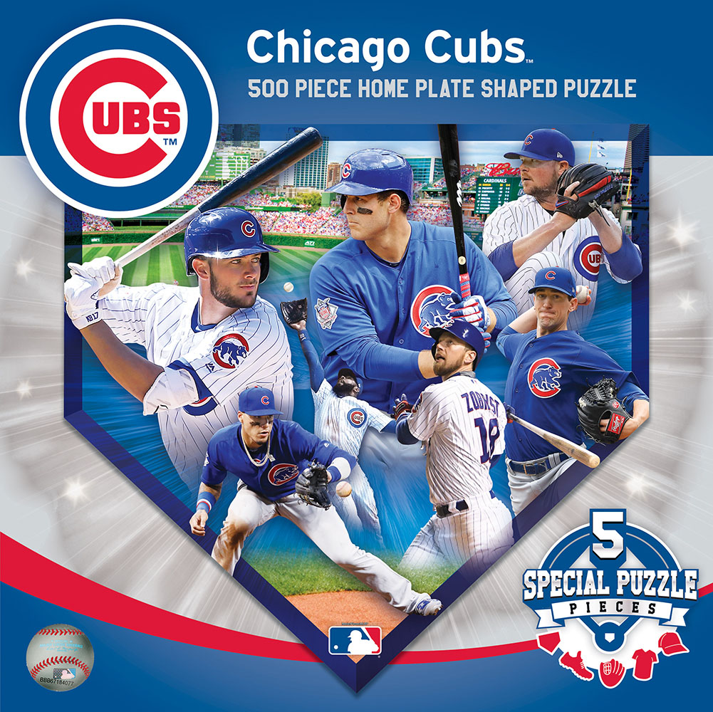 Chicago Cubs Homeplate Shaped Puzzle Sports Shaped Puzzle