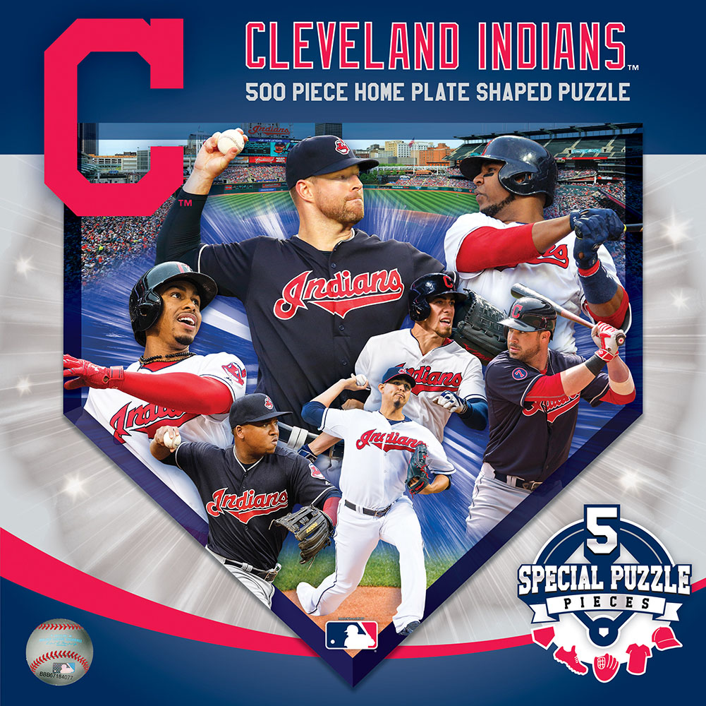 Cleveland Indians Homeplate Shaped Puzzle Sports Shaped Puzzle