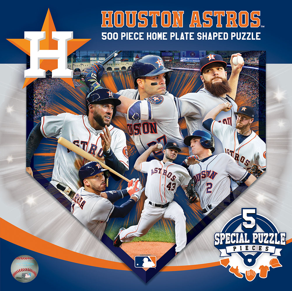 Houston Astros Homeplate Shaped Puzzle Sports Shaped Puzzle