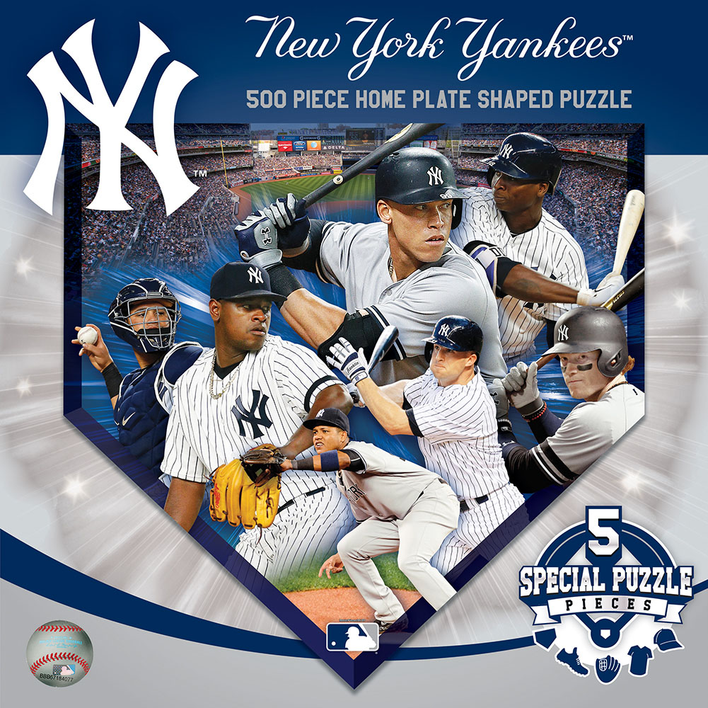 New York Yankees Homeplate Shaped Puzzle Sports Shaped Puzzle
