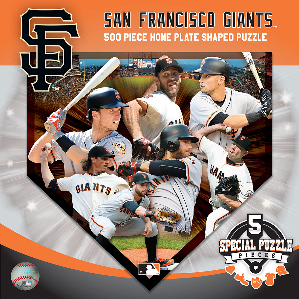 San Francisco Giants Homeplate Shaped Puzzle Sports Shaped Puzzle