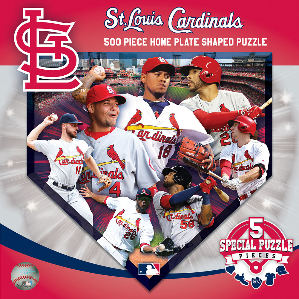 St. Louis Cardinals Homeplate Shaped Puzzle Sports Shaped Puzzle
