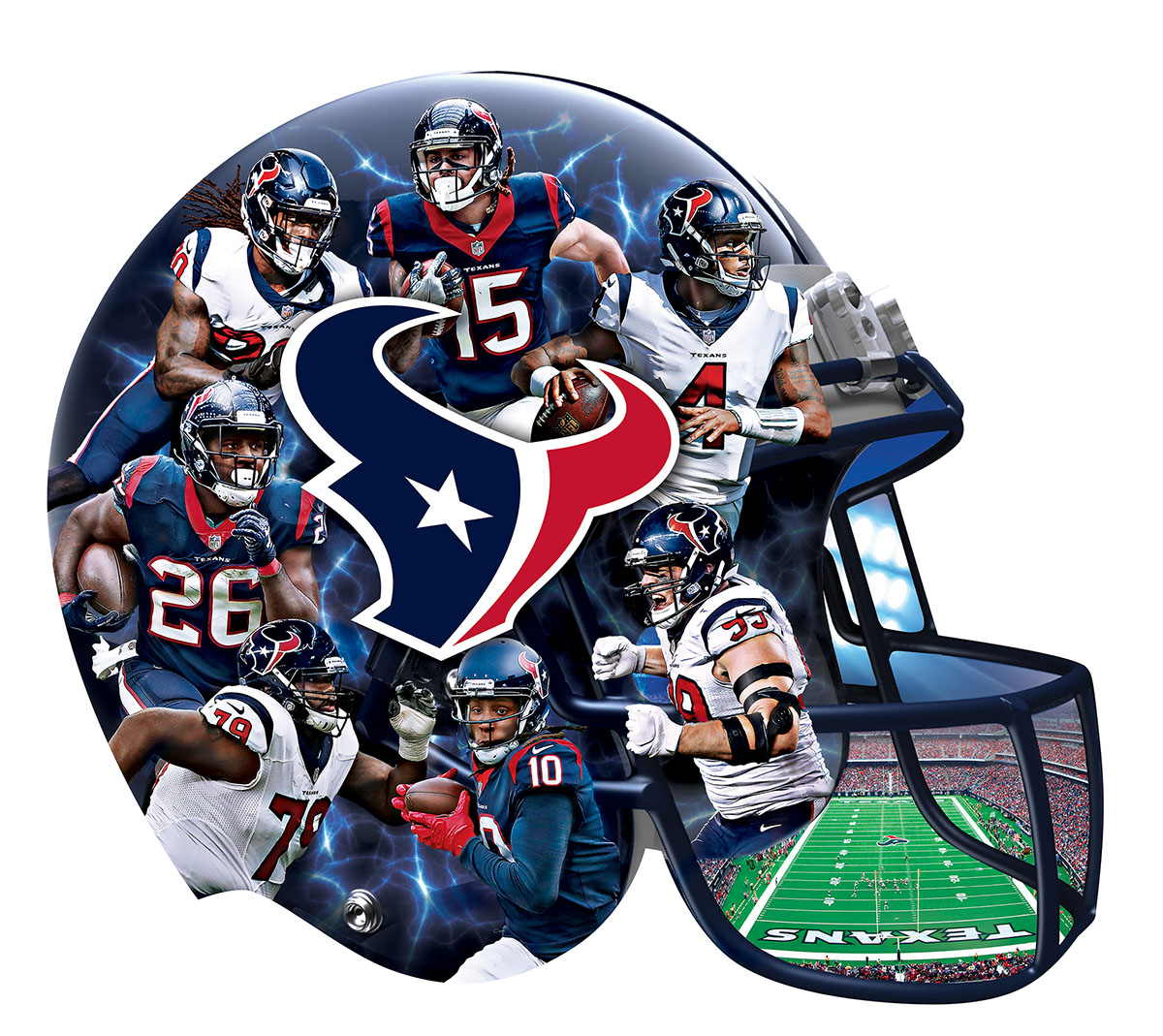 Houston Texans Helmet Shaped Puzzle Sports Shaped Puzzle