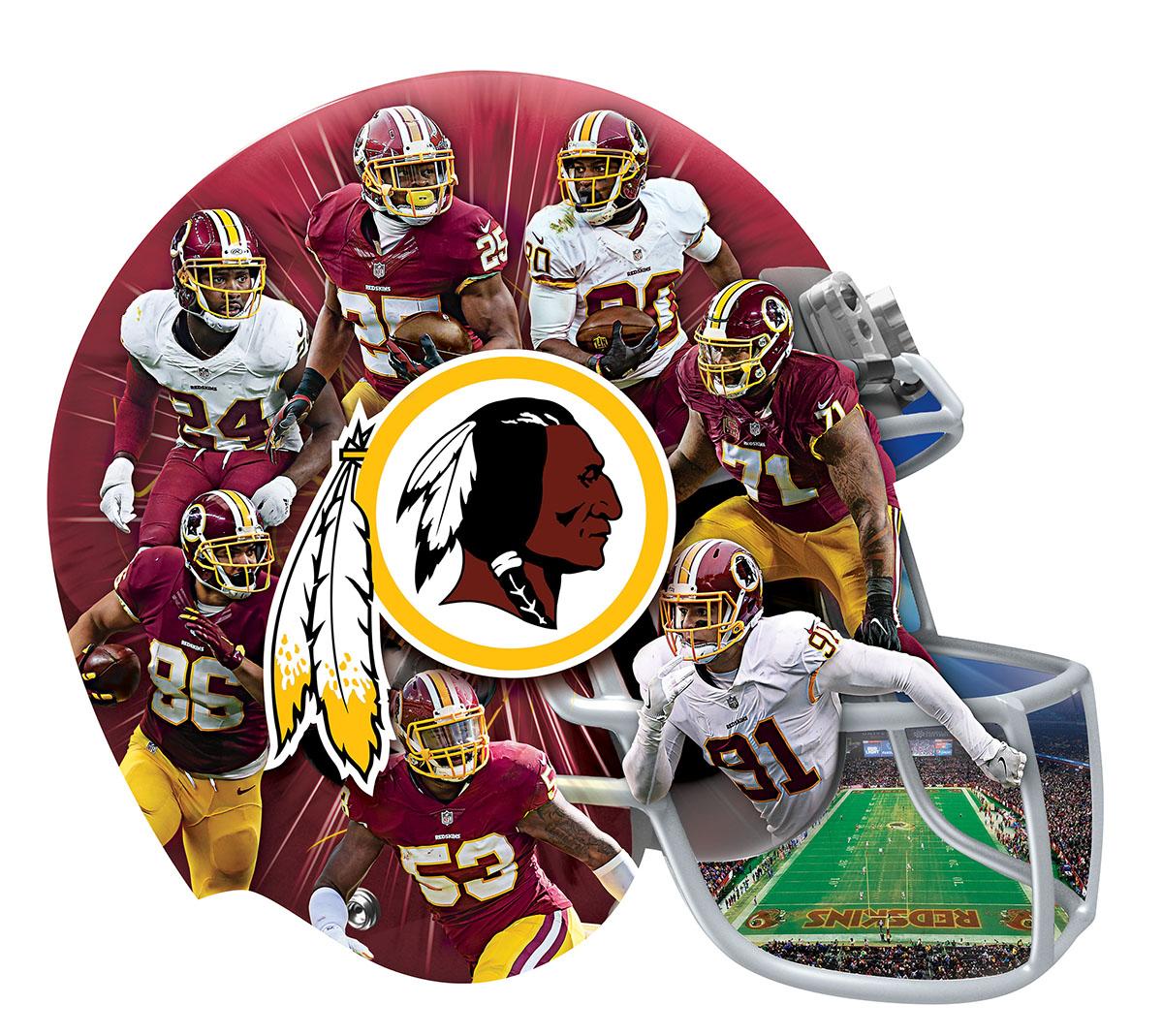Washington Redskins 500pc Helmet Shaped Puzzle Sports Shaped Puzzle