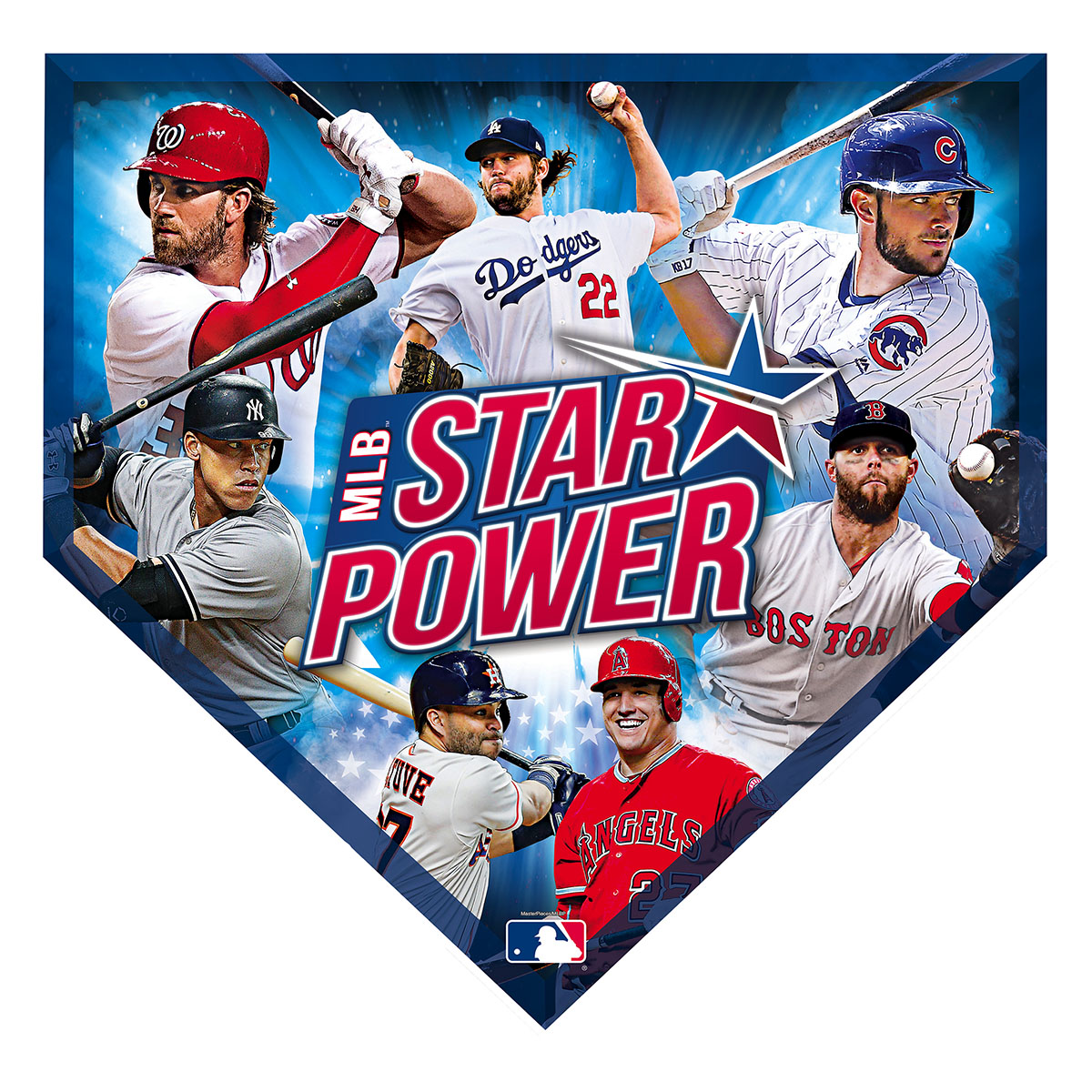 MLB Star Power 500pc Homeplate Shaped Puzzle Sports Shaped Puzzle