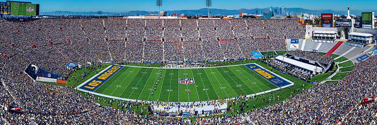Los Angeles Rams 1000pc Panoramic Puzzle Sports Jigsaw Puzzle