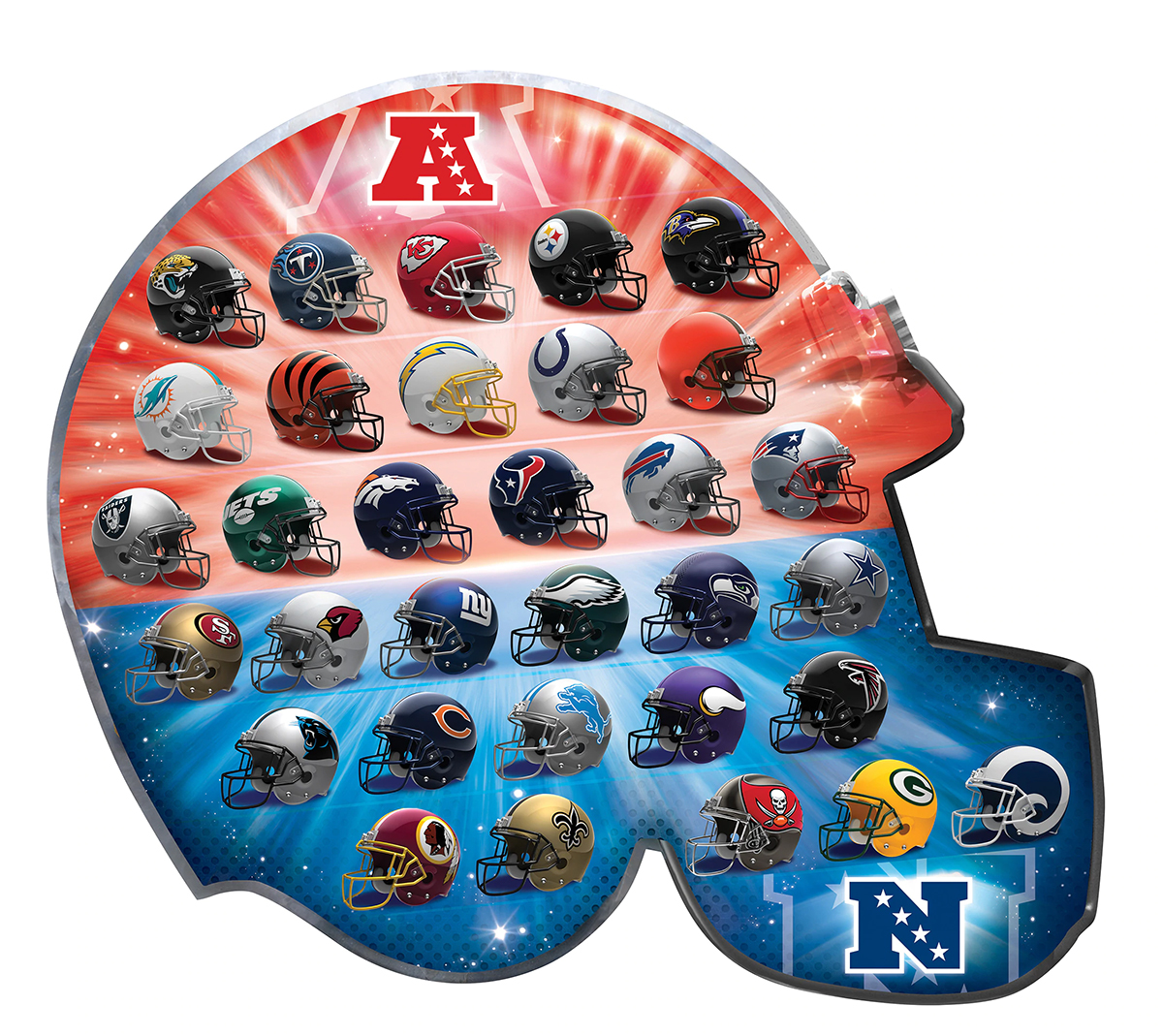 NFL Team Logos Sports Shaped Puzzle