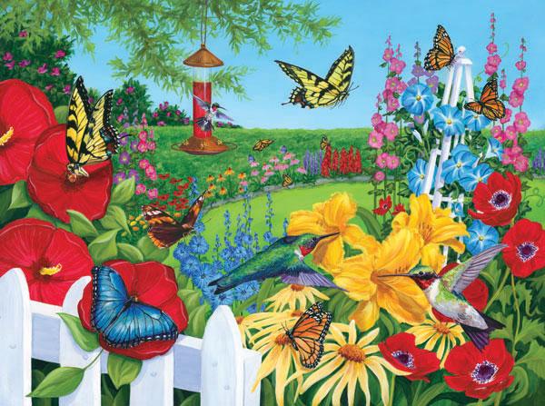 Birds 'n Blooms Birds Jigsaw Puzzle