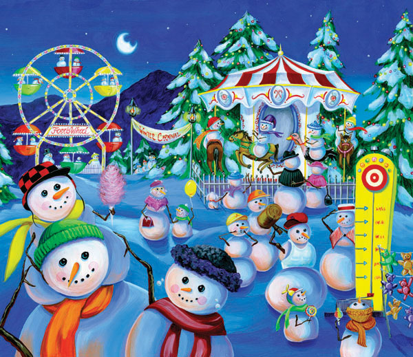 Snowman Carnival Carnival Jigsaw Puzzle