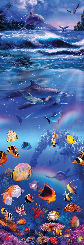 Rainbow Dolphins Dolphins Jigsaw Puzzle