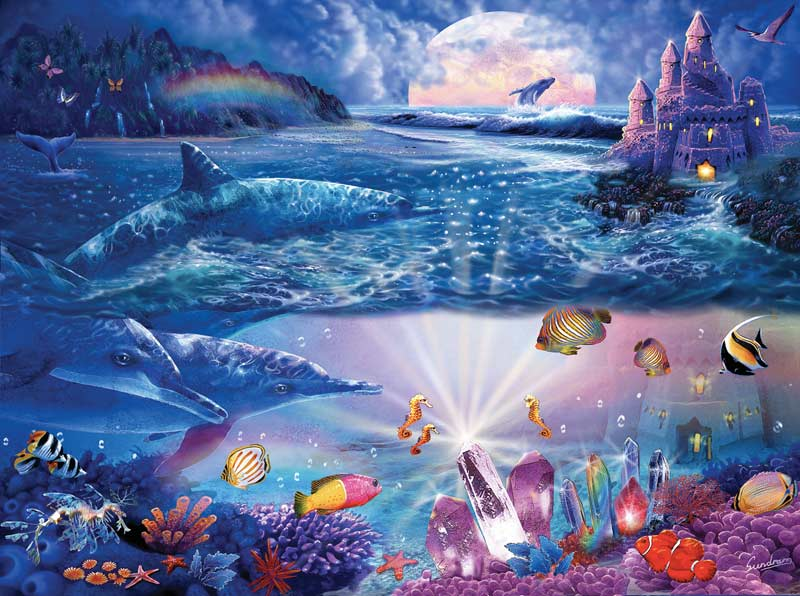 Dolphin Castle Under The Sea Jigsaw Puzzle