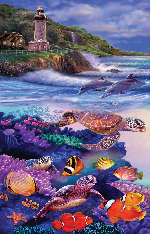 Dolphin Run Under The Sea Jigsaw Puzzle