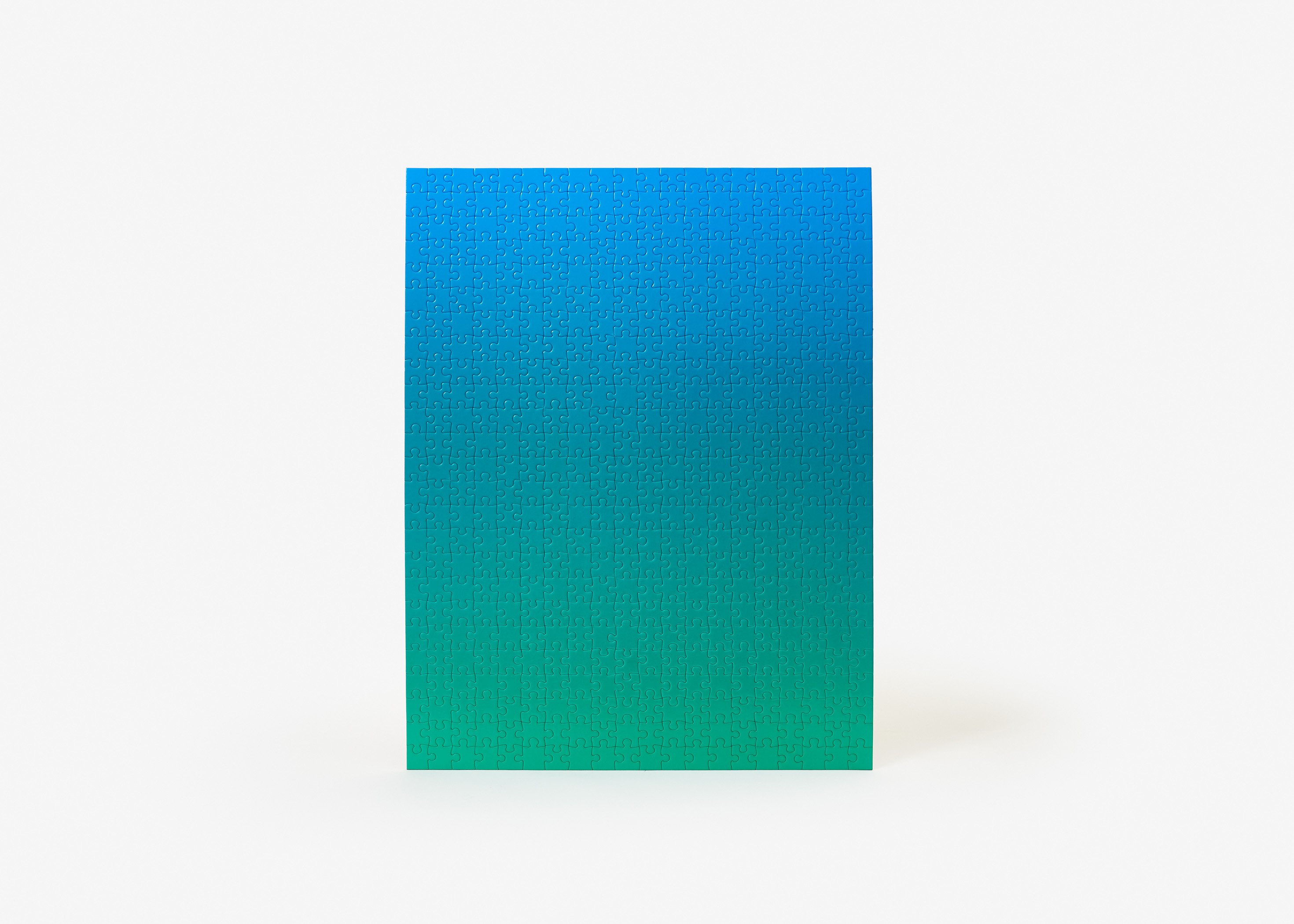 Gradient Puzzle (blue/green) Abstract Jigsaw Puzzle
