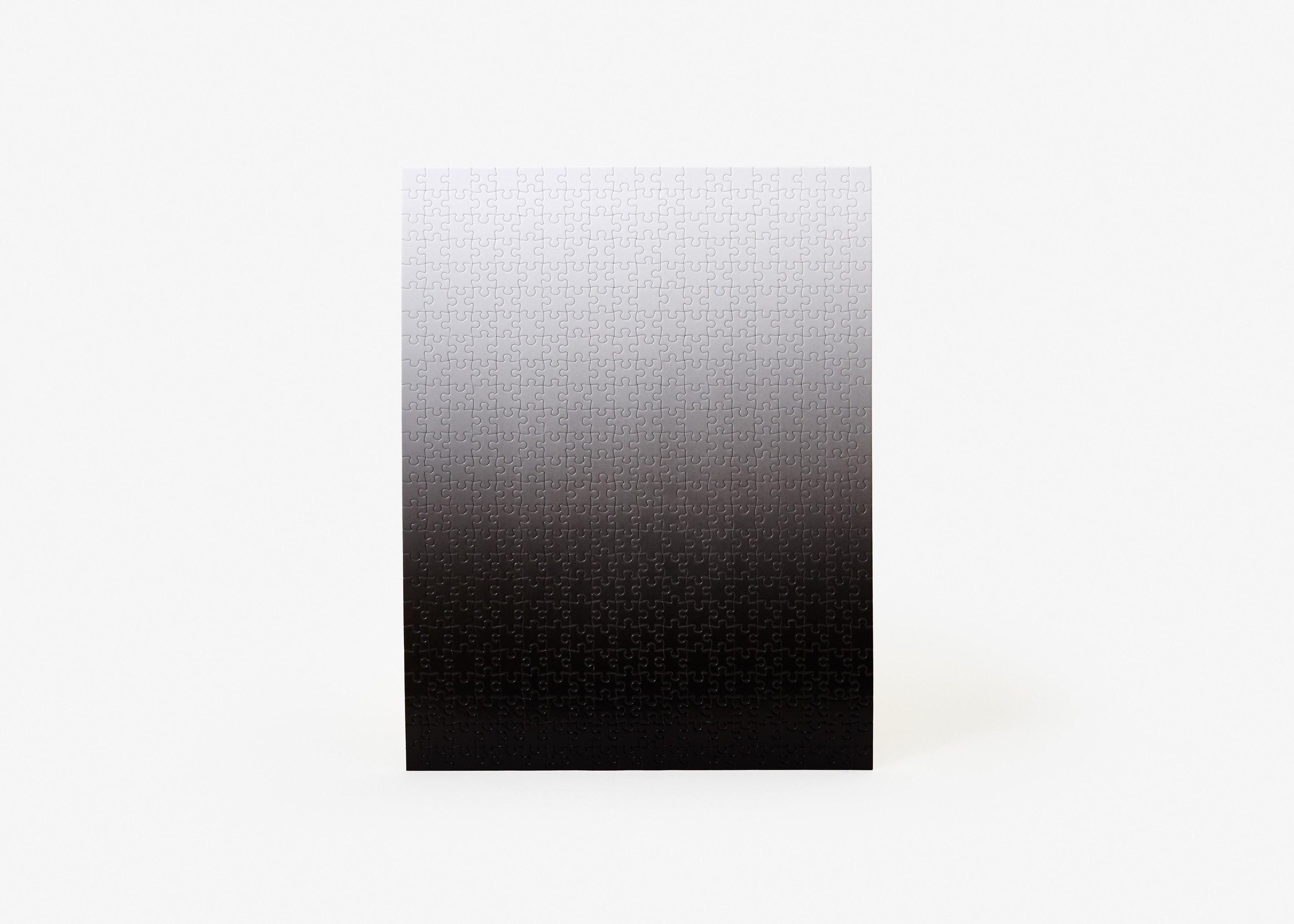 Gradient Puzzle (black/white) Monochromatic Jigsaw Puzzle