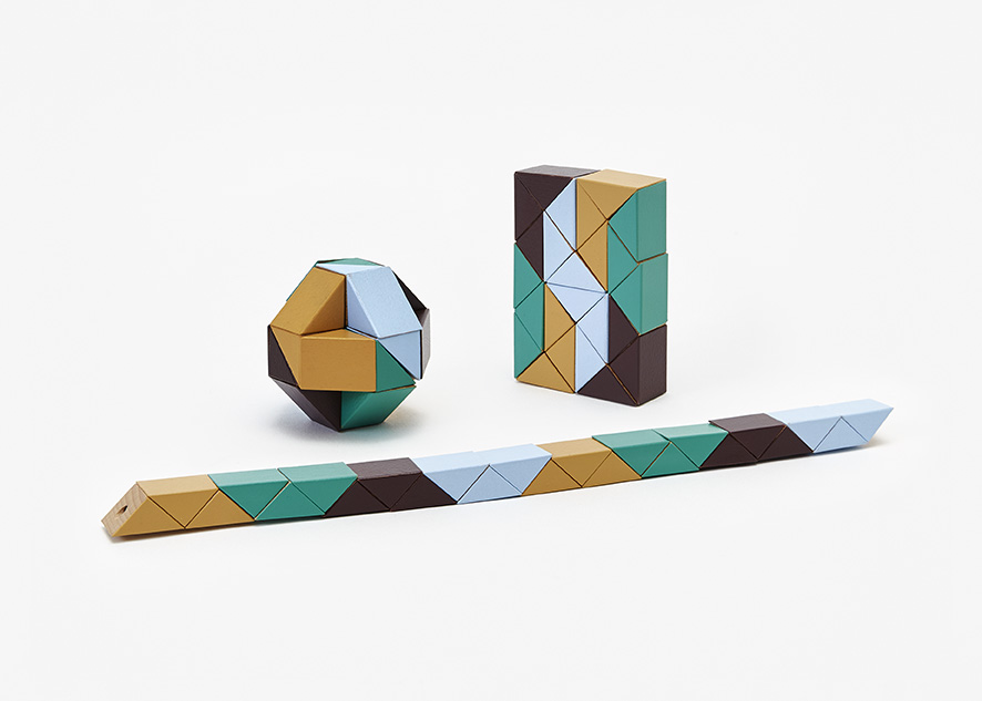 Snake Block Small (beige/green) Block Puzzle