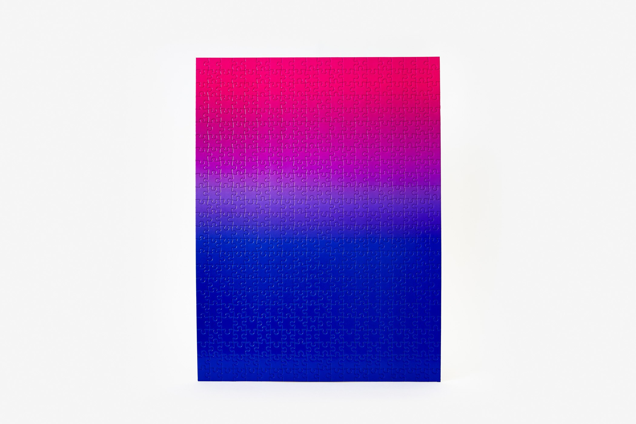 Gradient Puzzle (blue/pink) Abstract Jigsaw Puzzle