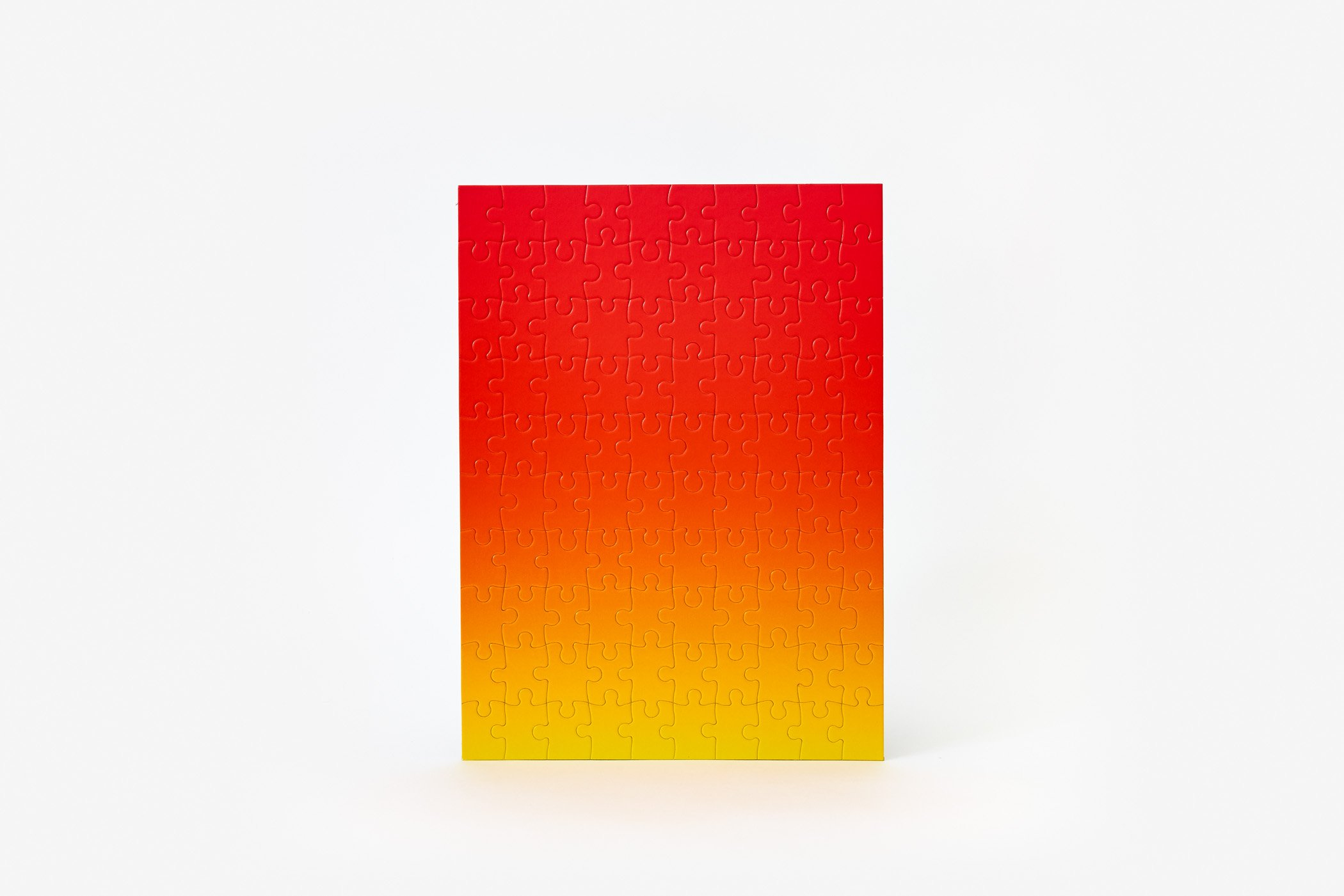 Gradient Puzzle Small (red/yellow) Abstract Jigsaw Puzzle