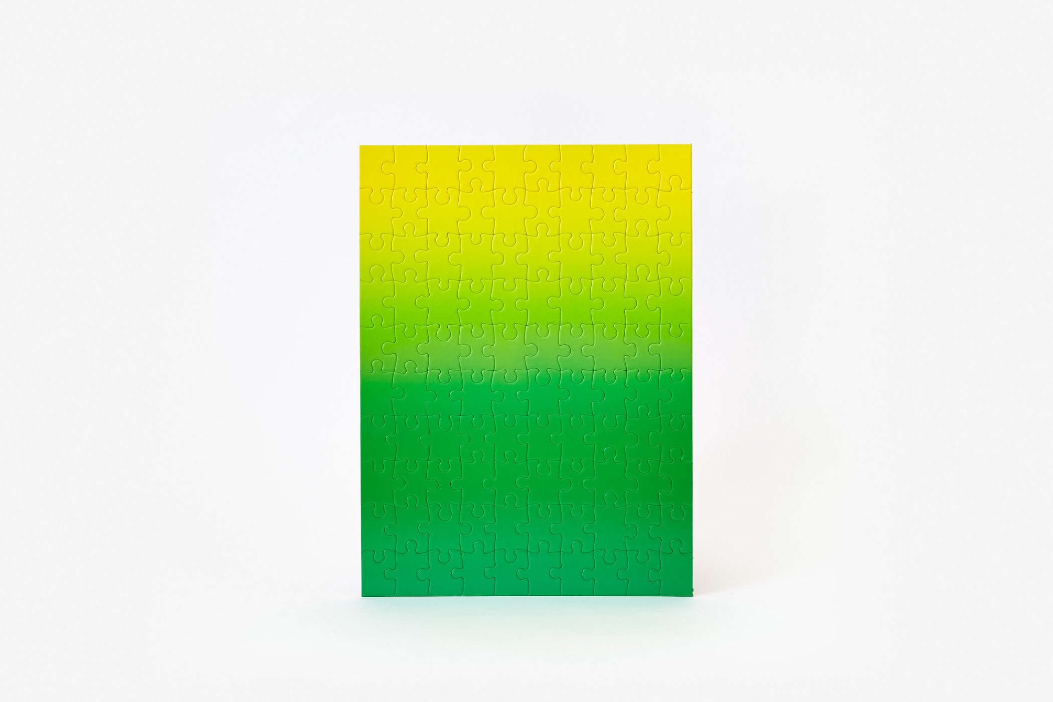 Gradient Puzzle Small (green/yellow) Abstract Jigsaw Puzzle