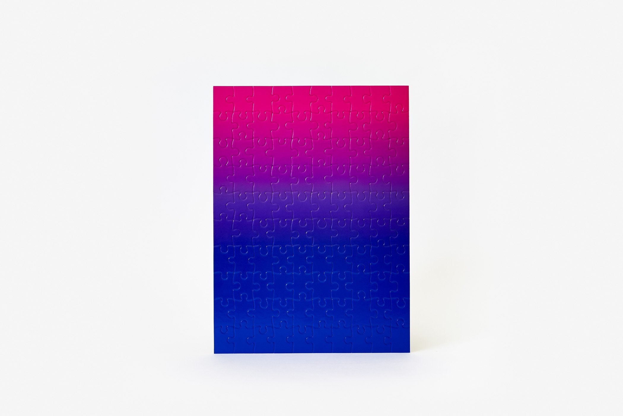 Gradient Puzzle Small (blue/pink) Abstract Jigsaw Puzzle
