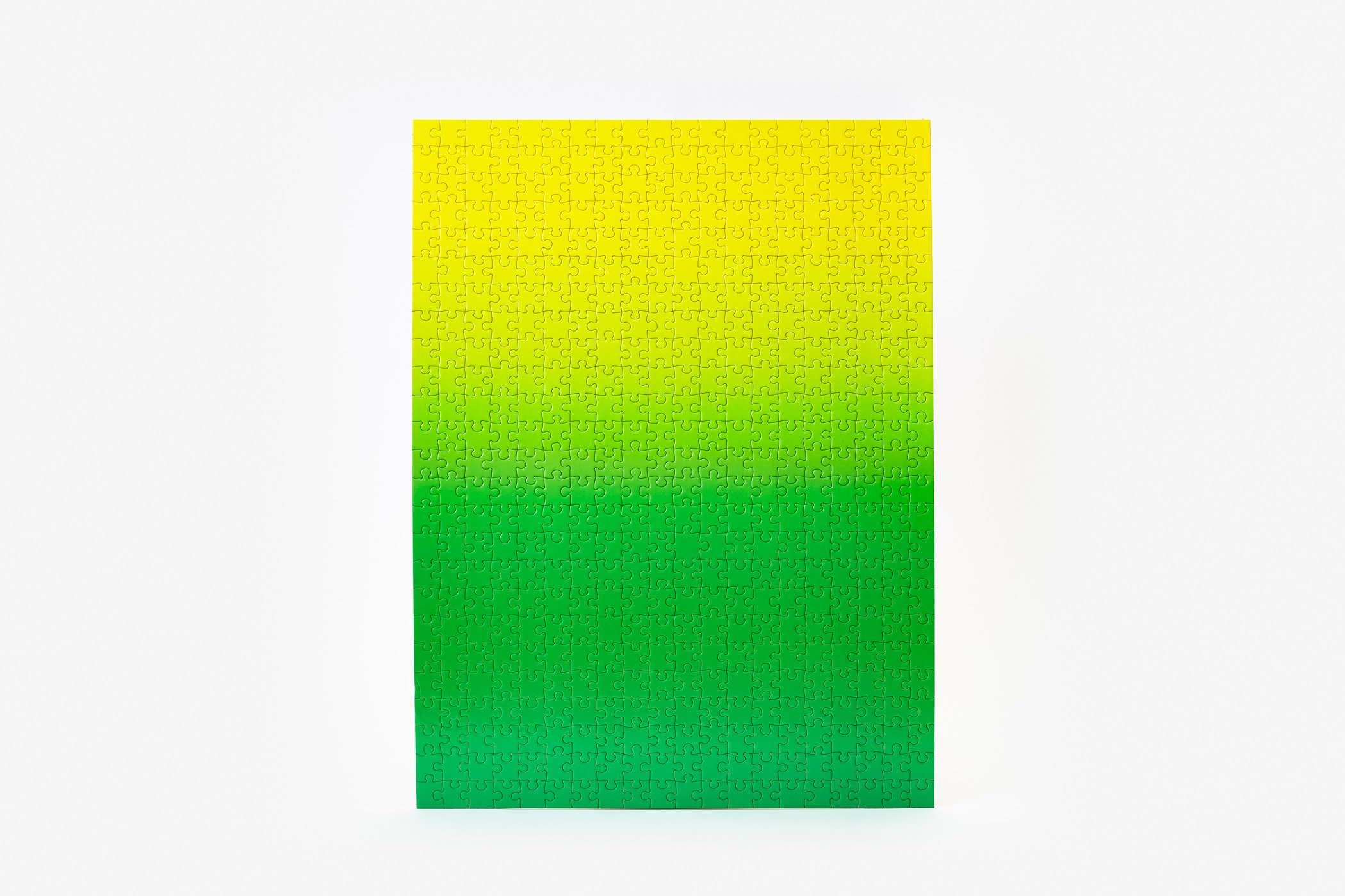 Gradient Puzzle (green/yellow) Abstract Jigsaw Puzzle