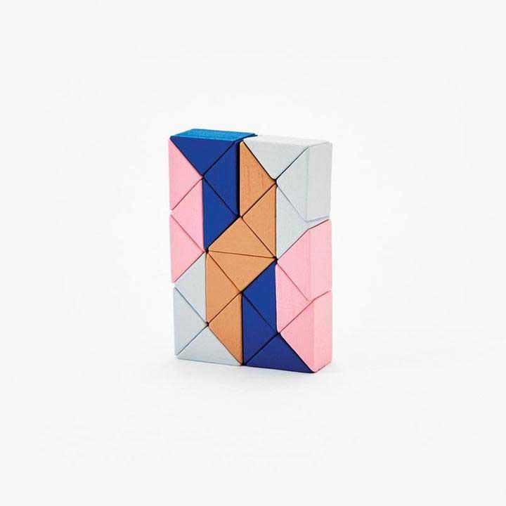 Snake Block Small (pink/beige)