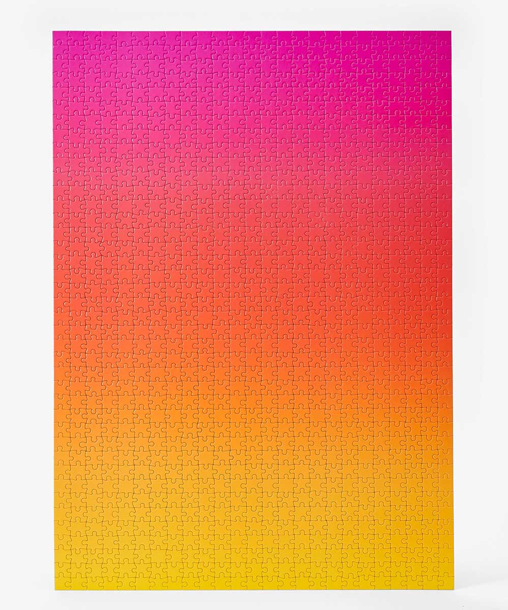 Gradient Puzzle Large (pink/yellow) Abstract Jigsaw Puzzle