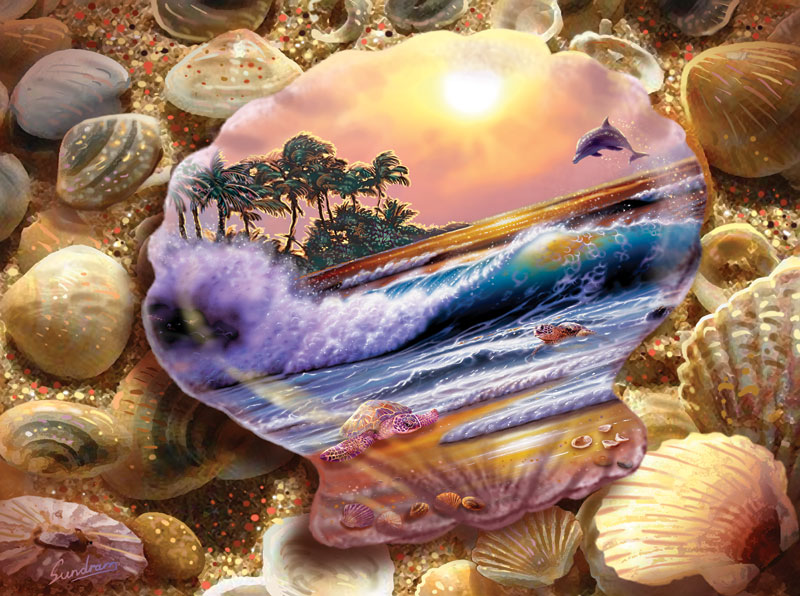 Seashell Fantasy Beach Jigsaw Puzzle