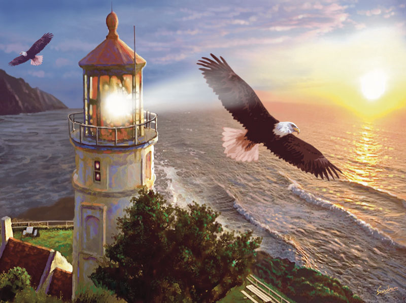 Eagle Light Eagles Jigsaw Puzzle