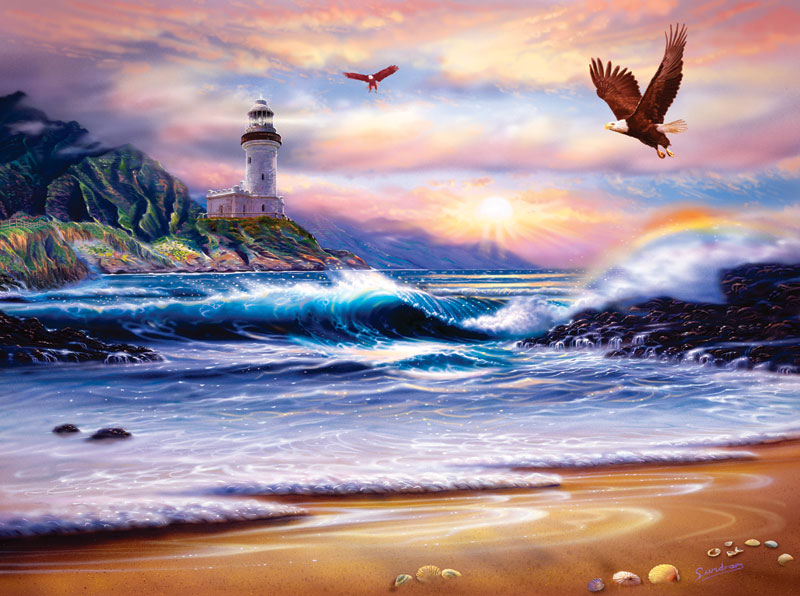 Rainbow Lighthouse Lighthouses Jigsaw Puzzle