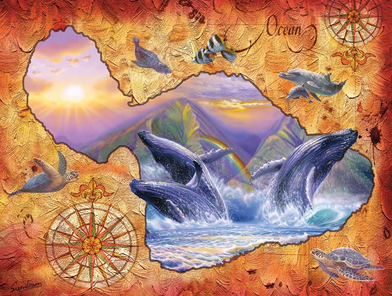 Whale Play Under The Sea Jigsaw Puzzle