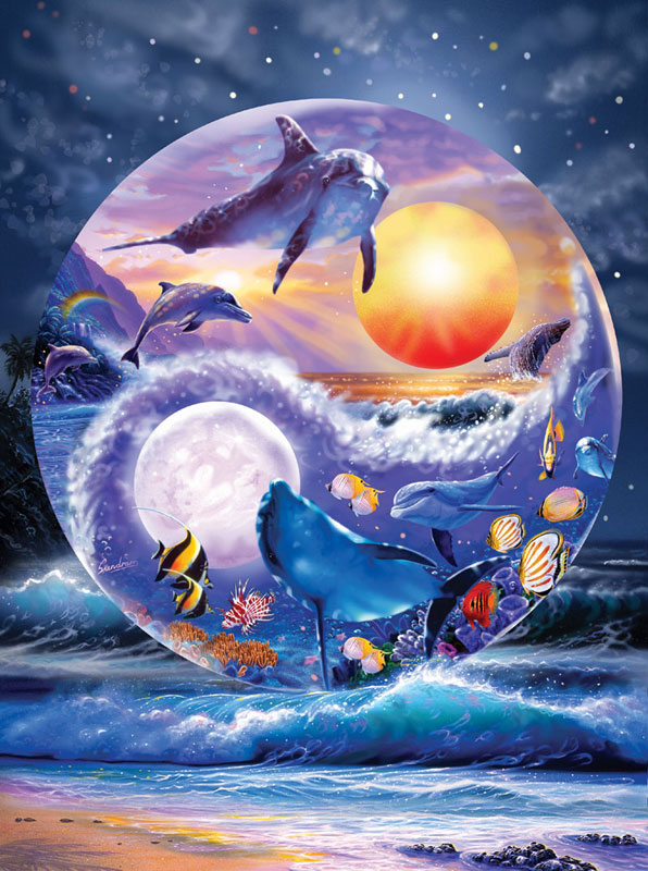 Yin & Yang Dolphins Jigsaw Puzzle