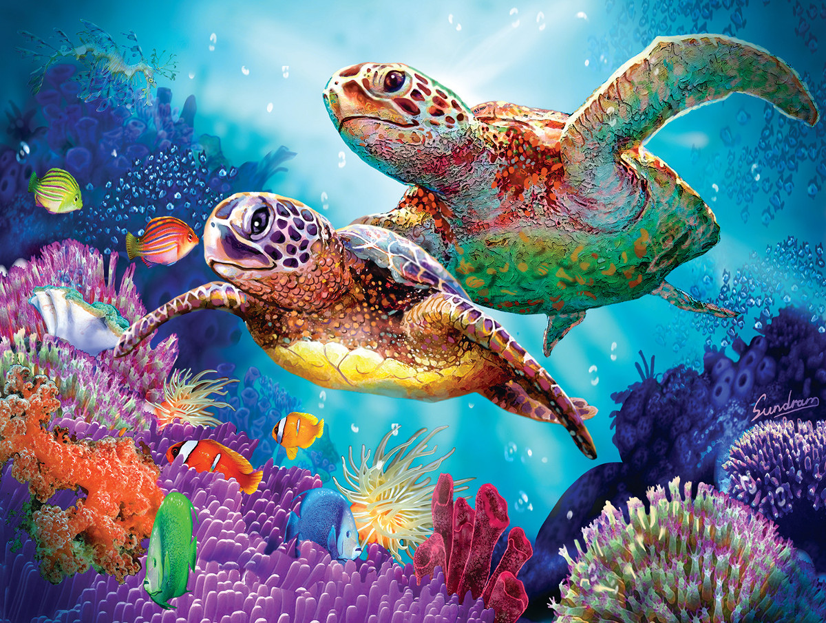 Turtle Guardian Jigsaw Puzzle Puzzlewarehouse Com