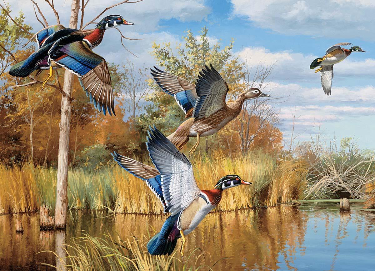 Autumn Shades Birds Jigsaw Puzzle