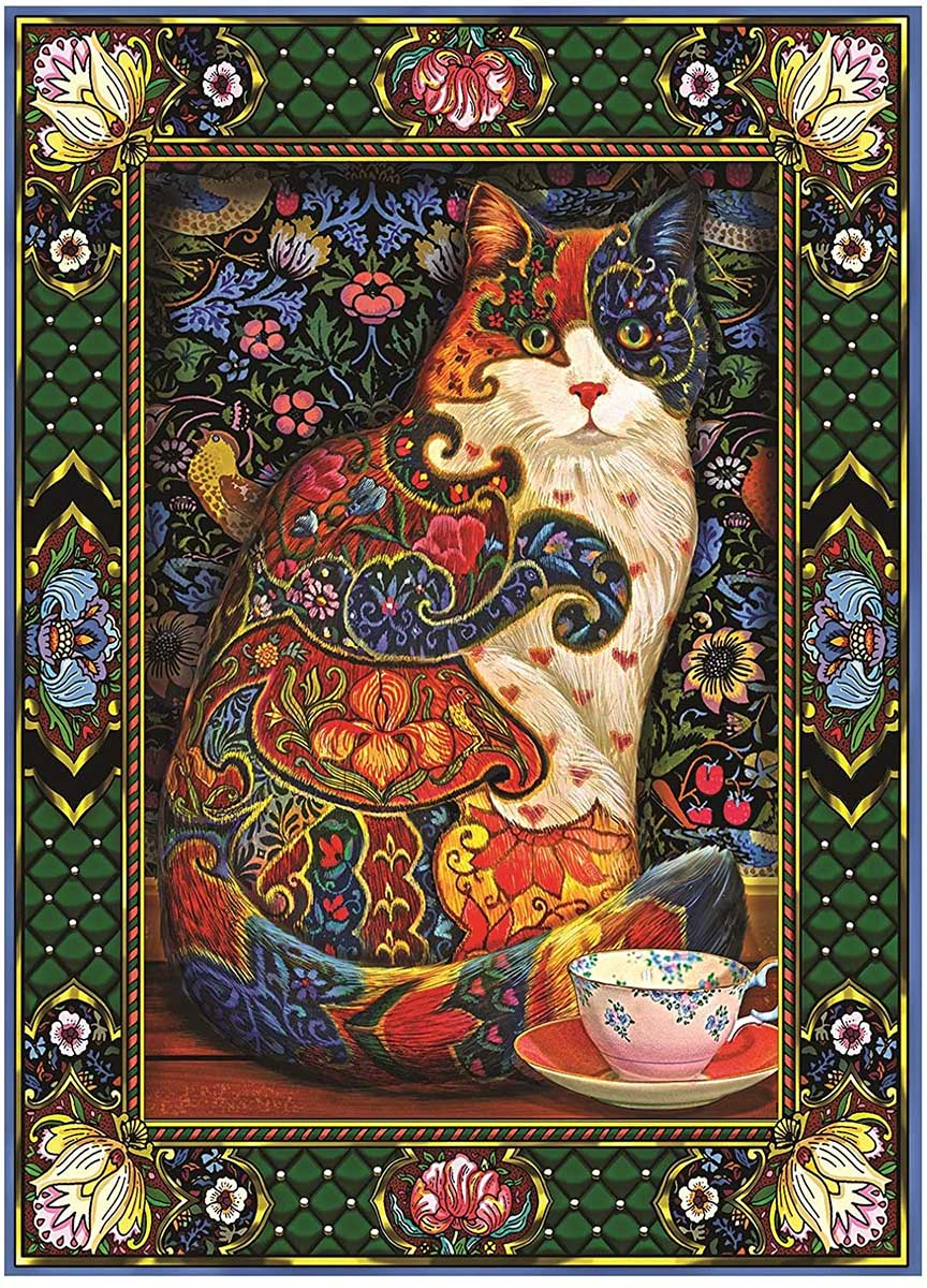 Painted Cat Cats Jigsaw Puzzle