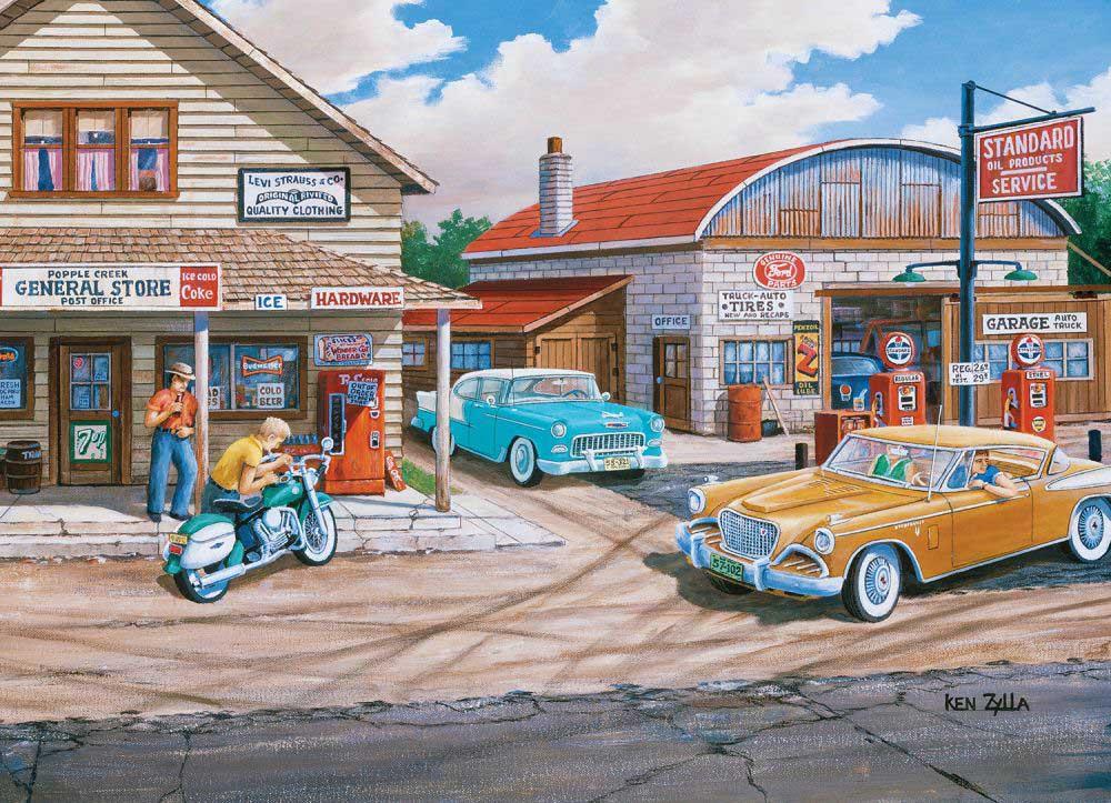 Popple Creek Store Street Scene Jigsaw Puzzle