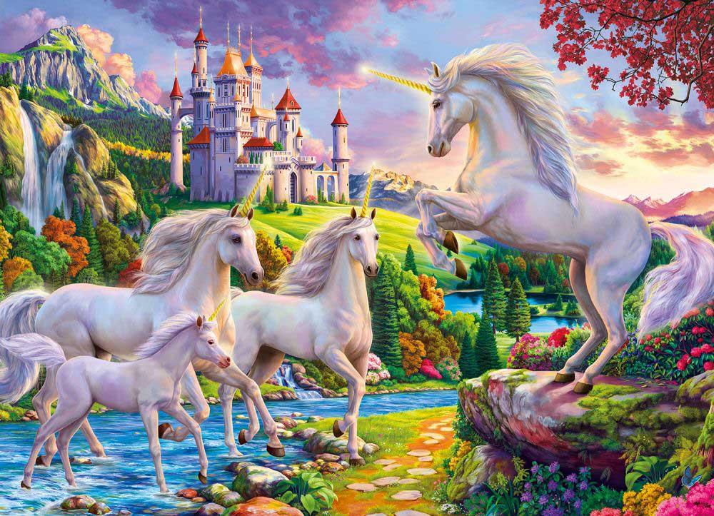 Unicorn & Castle Castles Jigsaw Puzzle