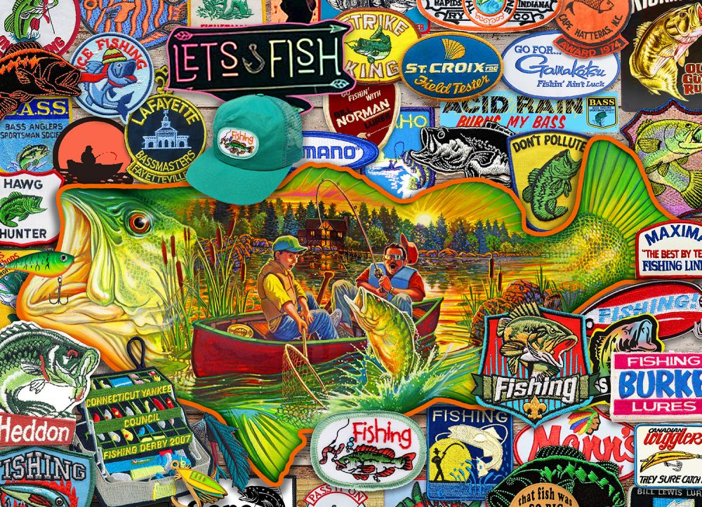 Let's Fish Fishing Jigsaw Puzzle