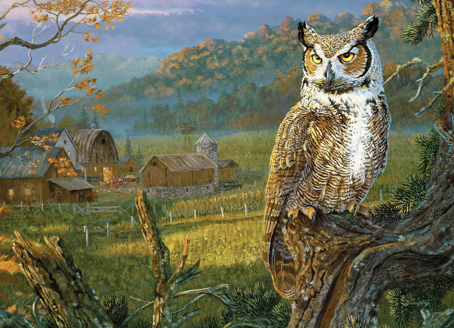Edge of the Night Countryside Jigsaw Puzzle